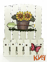 """Подставка под цветы """"Весеннее настроение"""" деревянная"""