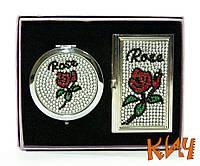 "Набор ""Стразы. Роза"" (зеркальце с визитницей)"