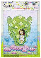 """Рисунок - схема для вышивания бисером """"Зелёненький слоник"""" KD-054"""