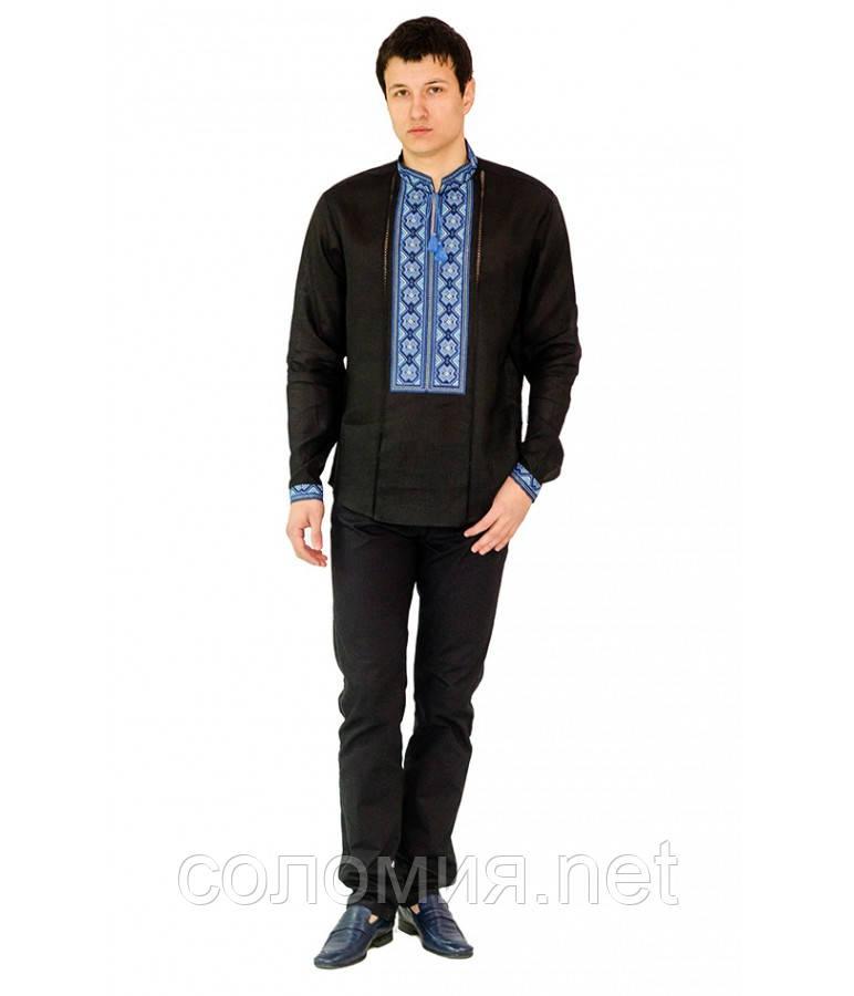 Рубашка вышитая мужская черная