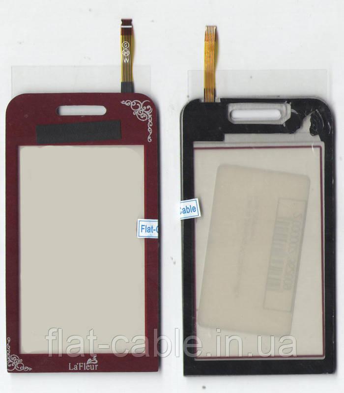 Сенсор Samsung S5230 красный La Fluer ААА