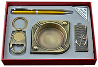 Подарочный набор (пепельница, зажигалка, брелок, ручка) 6351