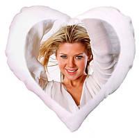 Плюшевая подушка в форме сердца с Вашим фото