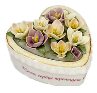 "CMS-45/ 2 Шкатулка фарфоровая ""Весеннее сердце"""