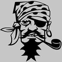 Виниловая наклейка на авто - Пират (от 15х12 см)
