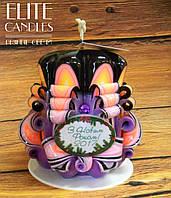 Сувенир ручной работы - новогодняя свеча. отлично подходит для подарков на новый год и рождество