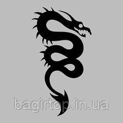 Вінілова наклейка на телефон -Змія