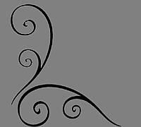 Виниловая интерьерная наклейка - Угол 1 (от 10х10 см)