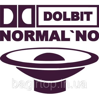 Вінілова наклейка - Dolbit Normalno з динаміком (від 15х12 см)