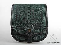 Женская кожаная сумка ручной работы (метод горячего тиснения) LOD -1, фото 1