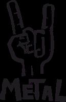 Виниловая наклейка - Metal (от 15х7 см)