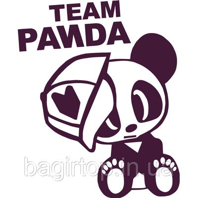 Вінілова наклейка - Team Panda (від 15х10 см)