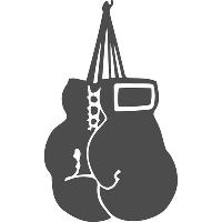 Виниловая наклейка - Боксерские перчатки (от 15х8 см)