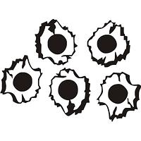 Виниловая наклейка - Дыры от пуль (от 11х15 см)