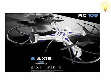 Квадрокоптер RC109 с видеокамерой. Радиоуправляемые модели игрушек. Дрон р/у. Квадрокоптеры