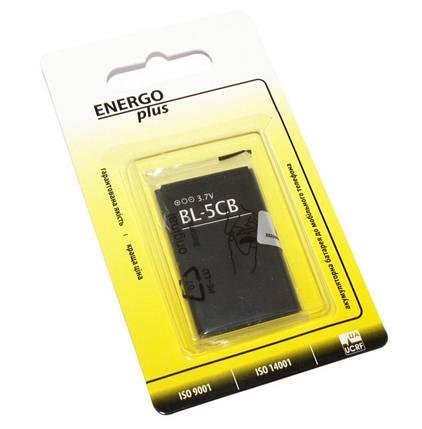 Аккумулятор Nokia BL-5CB, Enegro Plus, 800 mAh (1208, 1616, 1800) батарея Нокиа Нокия, фото 2