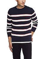 Мужской  свитер LC Waikiki черный в бело-красную полоску