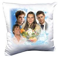 Плюшевая подушка квадрат с Вашим фото