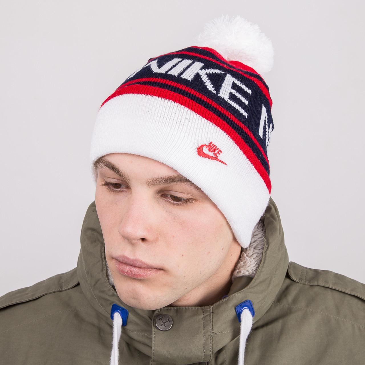Мужская спортивная шапка с помпоном - Артикул 8797