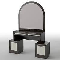 Столик туалетный с большим зеркалом и тумбами БС-18