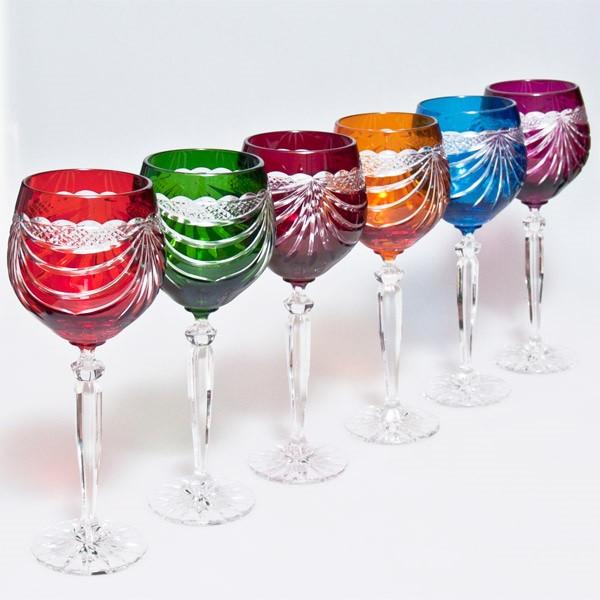 Набор бокалов для вина (разноцветные, 330 мл/6шт.) Julia FV3033