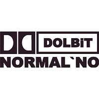 Наклейка на авто - Dolbit Normalno  (разные цвета) (от 4х15 см)
