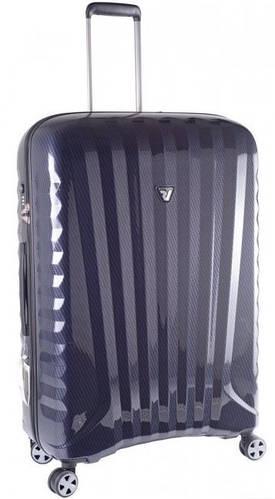 Большой 4-колесный пластиковый чемодан 113 л. Roncato UNO ZSL Premium 5177 0193 синий карбон
