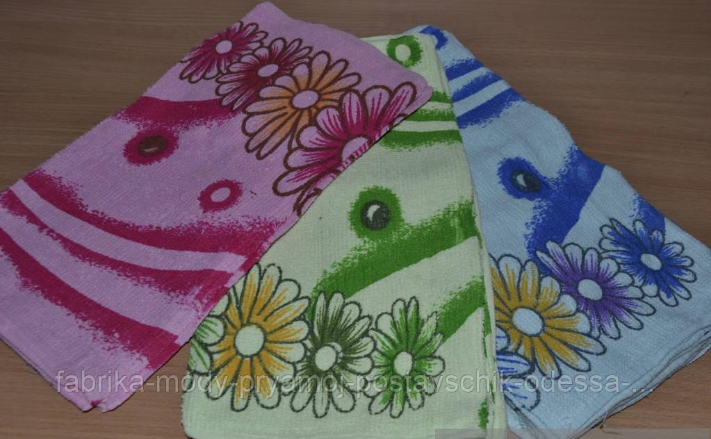 Недорогое кухонное махровое полотенце