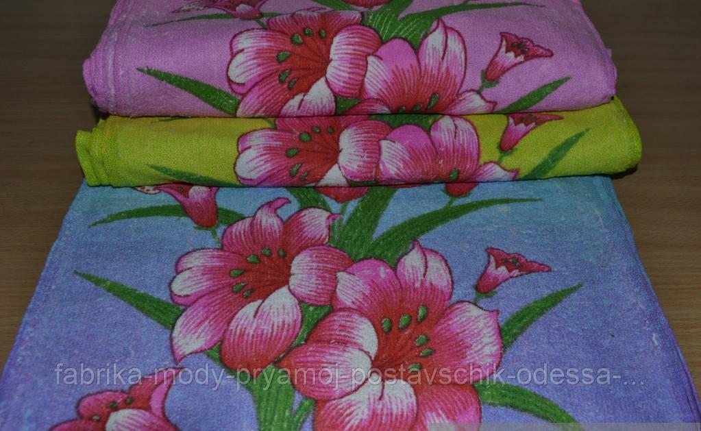 Кухонные махровые полотенца Цветы