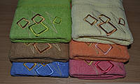 Банные полотенца Ромбики-Зигзаг цветные