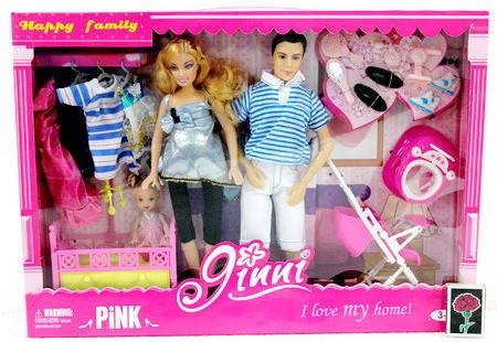 Кукла Jinni Семья 83229, беременная, Кен, ребенок, фото 2