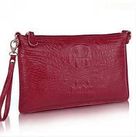 Лучший подарок девушке: сумка-клатч из натуральной кожи с тиснением крокодила