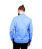 Рубашка вышитая мужская голубая, фото 3