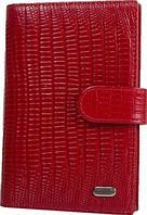 Женский стильный кожаный органайзер для документов DESISAN SHI102-131 красный
