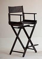 Стул визажиста раскладной черный (кресло визажиста).