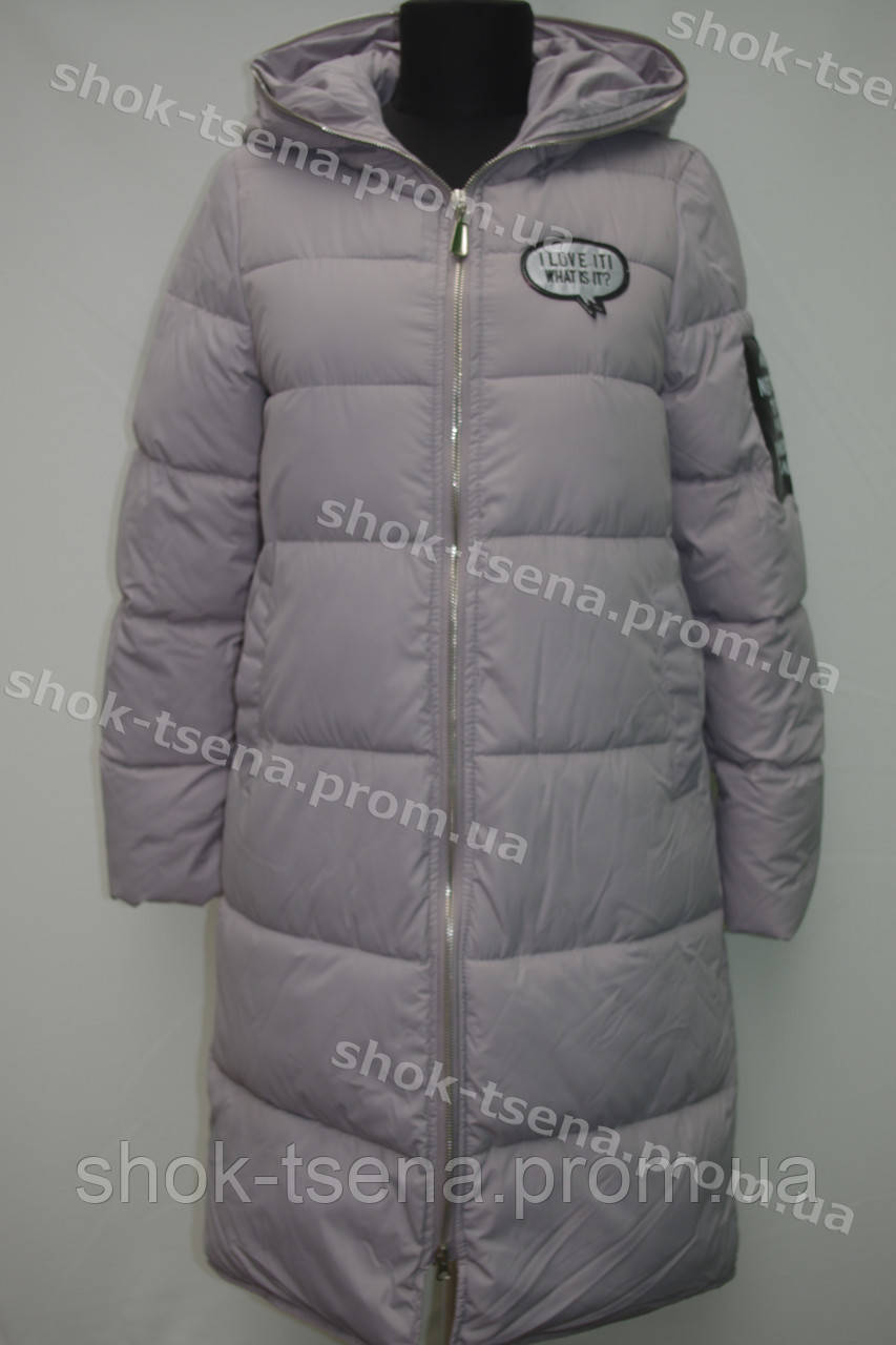 Женское зимнее пальто на замке с капюшоном серое - Оптово-розничный магазин одежды и товаров для дома в Хмельницком
