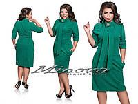 Женское ангоровое  батальное  платье, размер 48-52