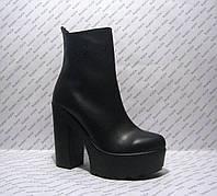 Ботильоны женские стильные на толстом невысоком каблуке