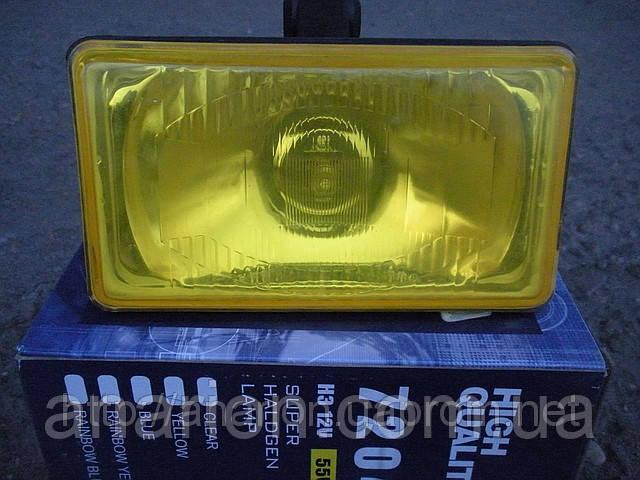 Противотуманные фары №7204 с крышкой (желтые)