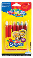 """Мелки для лица """"Colorino"""" 6 цветов"""