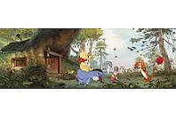 Фотообои на плотной полуглянцевой бумаге для стен 368*127 см из 4 листов: Дом Винни Пуха