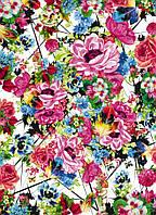Фотообои на плотной полуглянцевой бумаге для стен 184*254 см из 4 листов: Цветы яркие