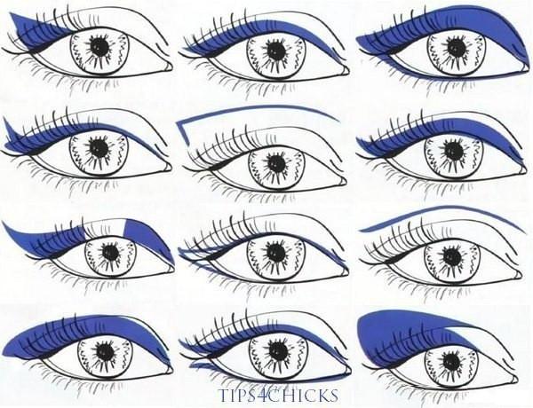 Рисуем стрелки для разных видов глаз