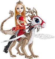 Кукла Эппл Уайт и дракон Брэбёрн Игры драконов / Apple White Doll & Braebyrn Dragon Games