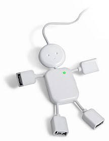 USB хаб человечек  hub 4 порта #100106