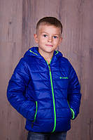 """Детская куртка для мальчика из плащевки на синтепоне """"Columbia"""""""