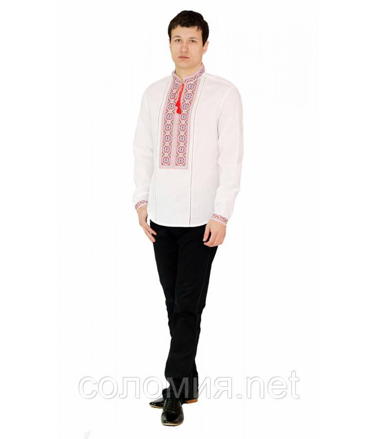Рубашка вышитая мужская белая