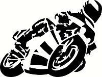 Виниловая наклейка на мотоцикл 4 (от 11х15 см)