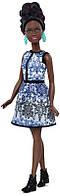 Кукла Барби Модница 25 Голубая Парча - Миниатюрная / Barbie Fashionistas Doll 25 Blue Brocade - Petite