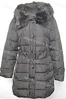 Женское пальто зимнее на замке с капюшоном черное